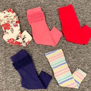 👶🏻Baby girl bundle 5 leggings 12 mo